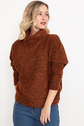 Cowl Collar Bat Sleeve Sweater