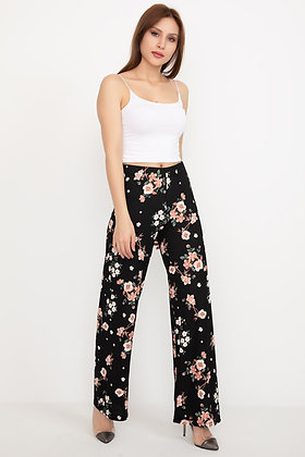 Patterned Wide Trousers