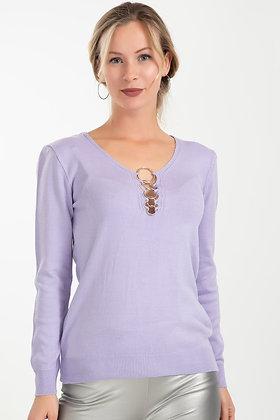Collar Detailed Knitwear Sweater