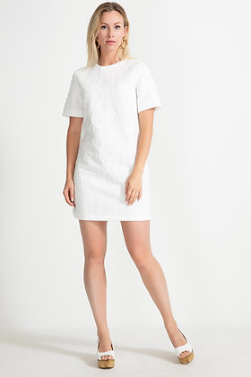 Short Sleeved White Dress