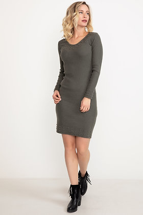 V-neck Pearly Dress