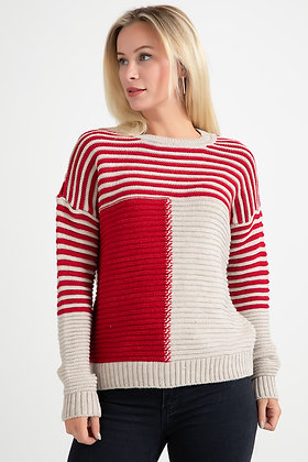 Two Color Knitwear Sweater