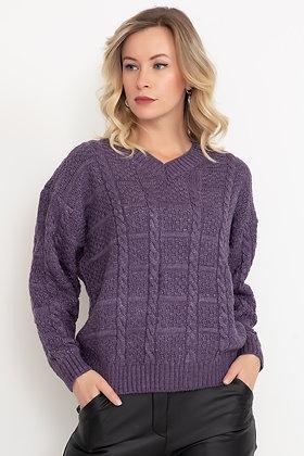 V Neck Patterned Knitwear Sweater