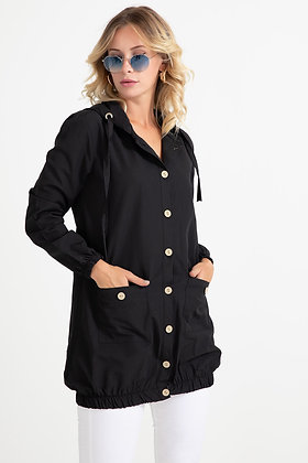 Hooded Trench with Pockets