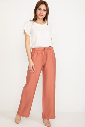 Wide Waist Trousers with Elastic Waist