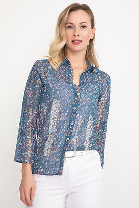 Patterned Chiffon Shirt