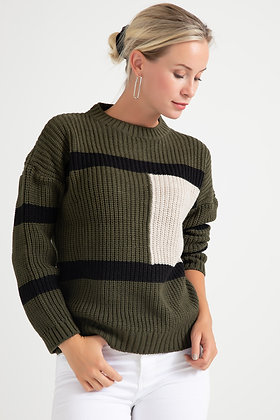 Striped Knitwear Sweater