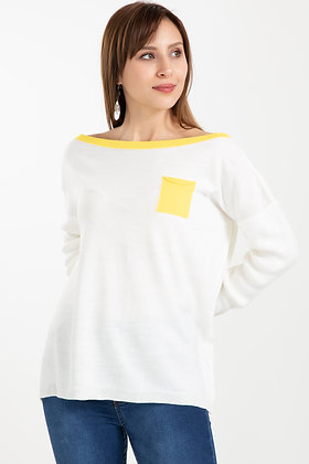 Wide Collar Knitwear Sweater