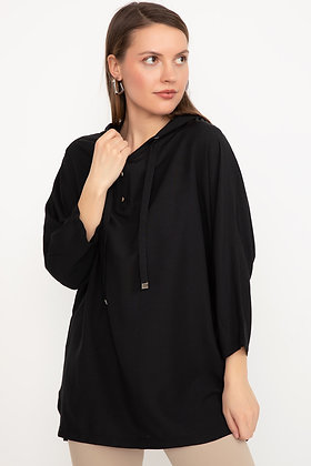 Hooded Collar Corded Shirt