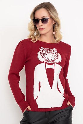 Patterned Knitwear Sweater