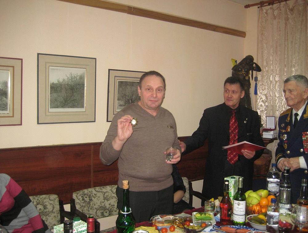 Вручение  Масалитину  М.П. знака  «Почетный  гражданин  России»