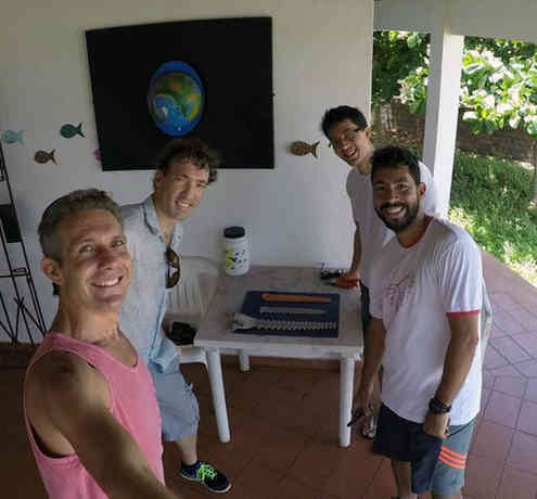 Amazon catfish and sawfish team. (CW from LL) T. Giarrizzo, J. Hegg, L. Feitosa, G. Nunes