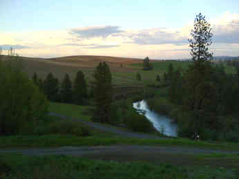 Sunset over the Palouse River