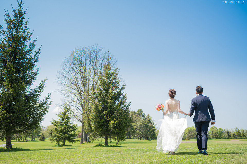Bride and Groom wedding picture at Mandarin Golf Club