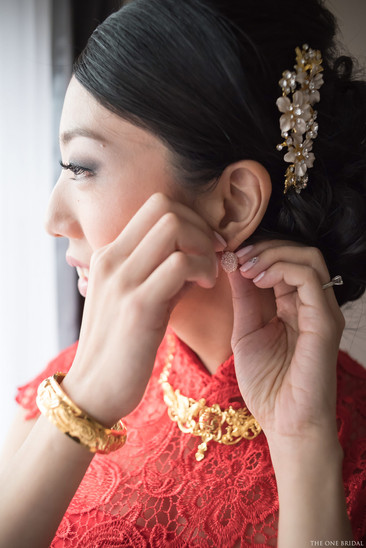 Chinese bride with Red Wedding Dress  THE ONE BRIDAL