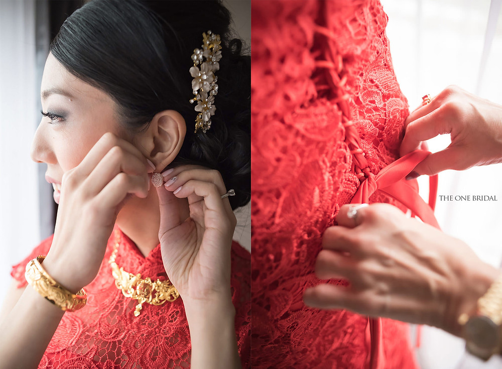 Traditional Red Chinese Wedding Dress by THE ONE BRIDAL