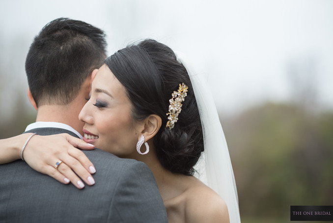 Bride and Groom at Toogood Pond | THE ONE BRIDAL
