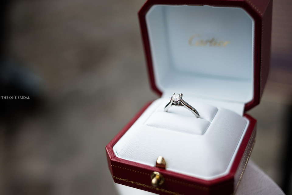 Cartier Engagement Ring Photography by THE ONE BRIDAL