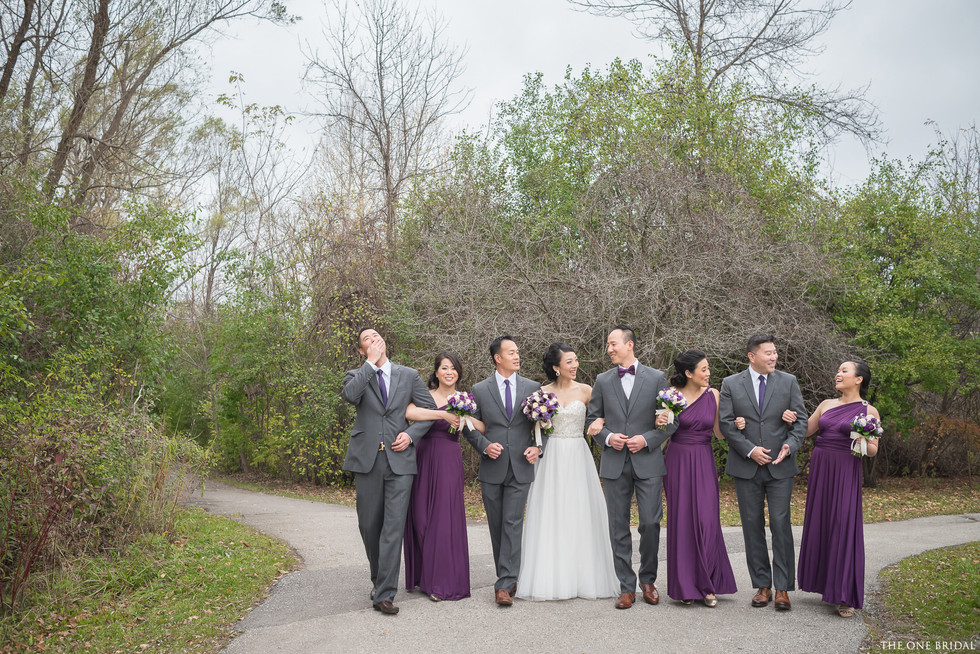Bridal Party at Toogood Pond | THE ONE BRIDAL