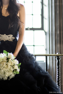 Black Tulle Ball Gown Evening Dress.