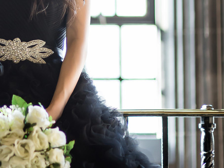 Black Tulle Ball Gown Evening Dress by THE ONE BRIDAL