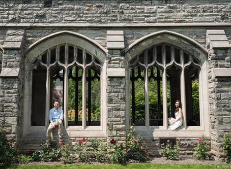 Engagement Photo at Knox College Toronto