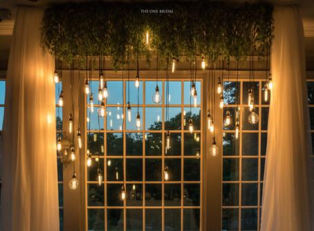 Retro Lights Decoration Wedding Backdrop