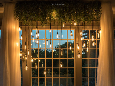 Retro Lights Decoration Wedding Backdrop