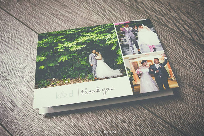 Thank you card from customer for THE ONE BRIDAL