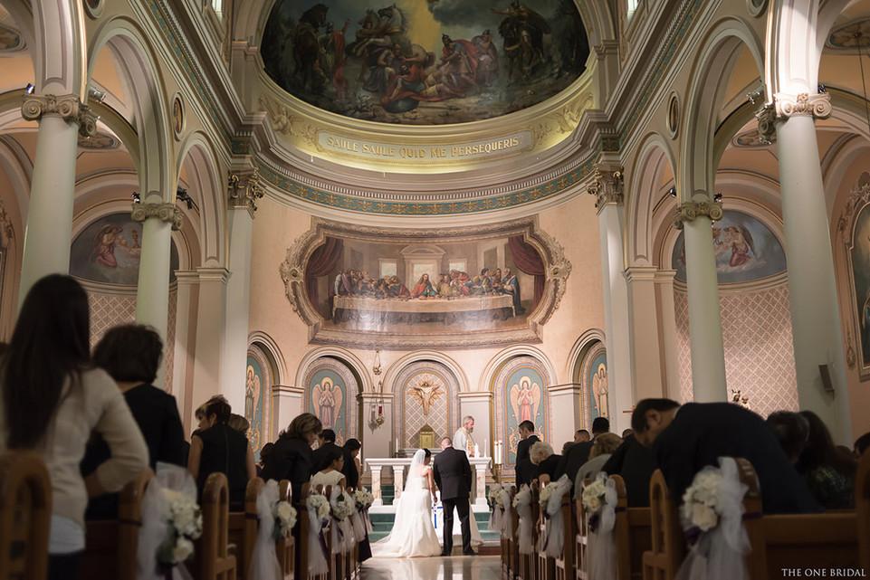 Wedding ceremony at St. Paul's Basilica