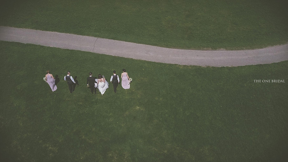 Drone Wedding Photo by THE ONE BRIDAL