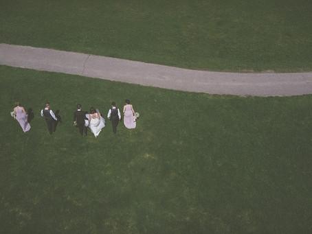 Drone Wedding Photo