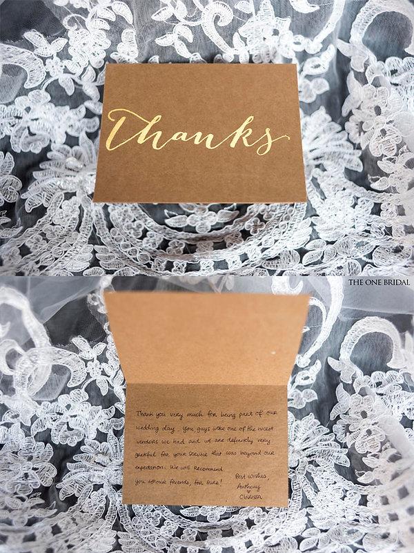 Clarissa & Anthony Wedding thank you card