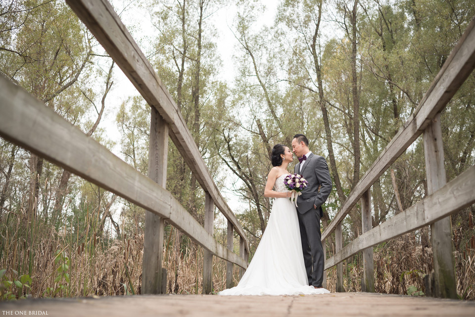 Bride and Groom at Toogood Pond   THE ONE BRIDAL