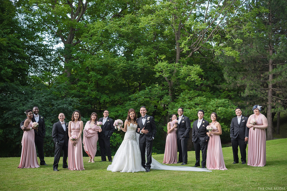 Westin Prince Hotel Wedding with the bridal party