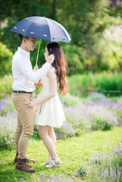 Engagement Photo at Lavendar Farm