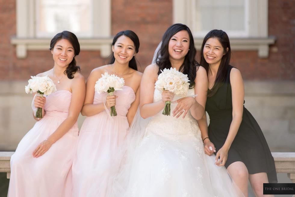 Bridesmaid and Bride, Osgood Hall Toronto Wedding Photo