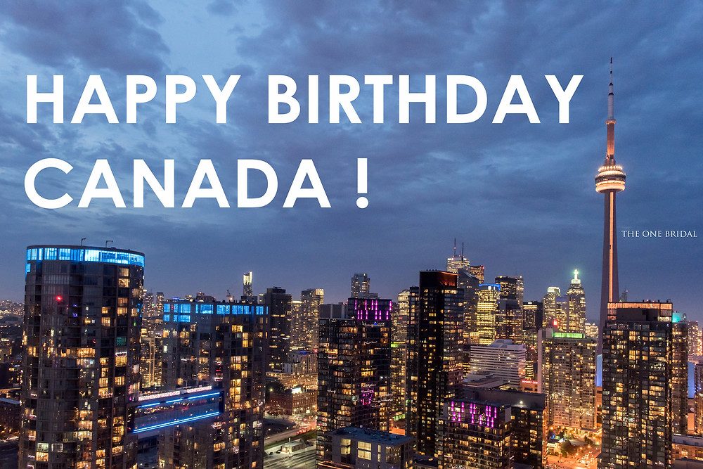 Happy Birthday Canada 150 from THE ONE BRIDAL