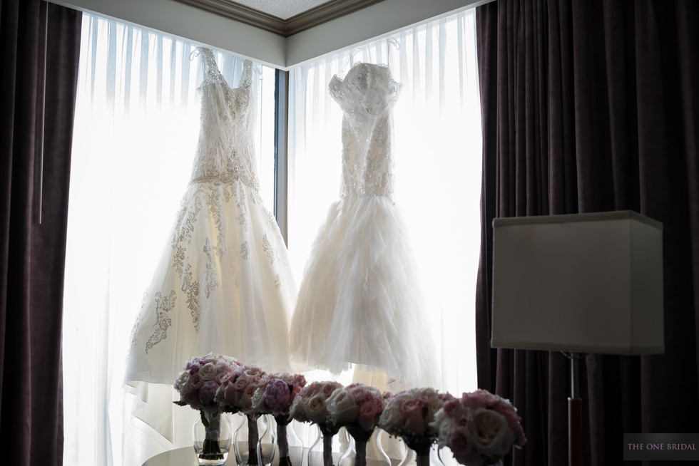 Wedding dresses and Bouquets in Hilton Markham
