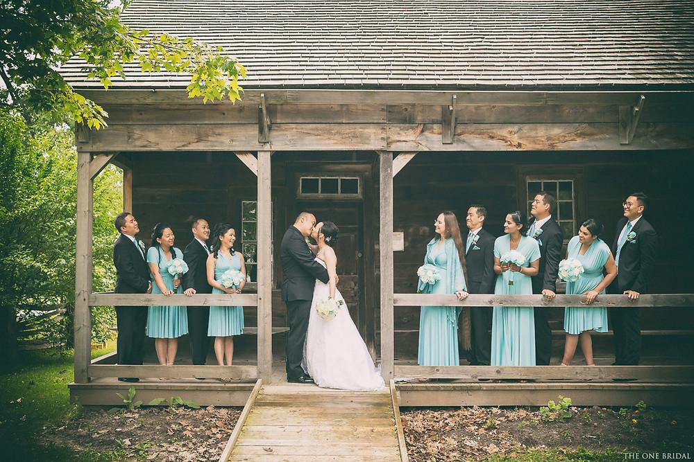 Wedding Party Photoshoot at Markham Museum