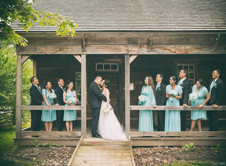 Photoshoot at Markham Museum with Wedding Party