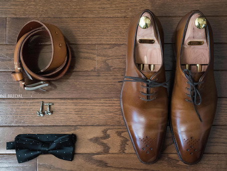 Groom's Wedding Shoes • Belt • Bow tie • Cuff links