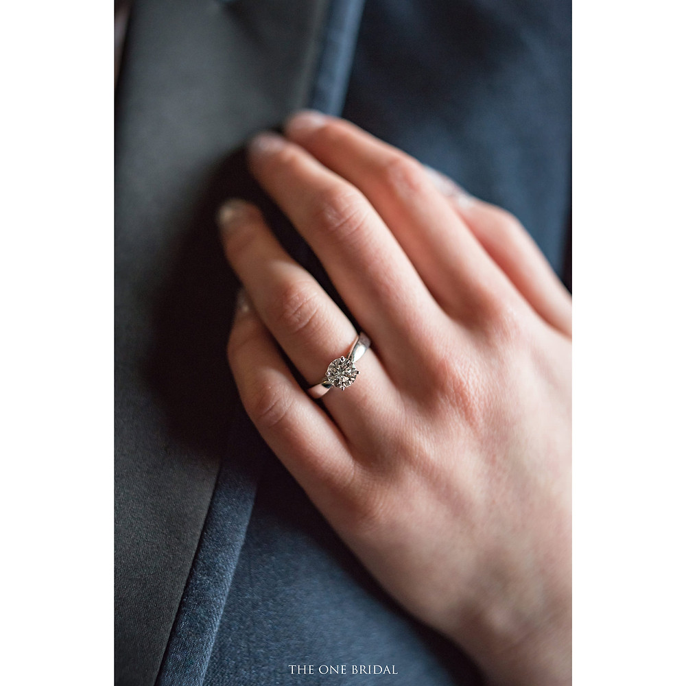 Bride with the Engagement Ring | pre-wedding photo