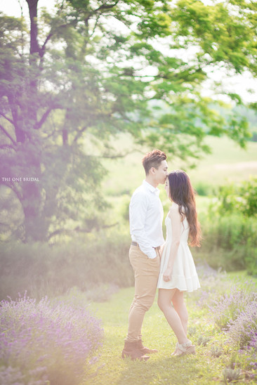 Lavender Farm Engagement Photography by THE ONE BRIDAL
