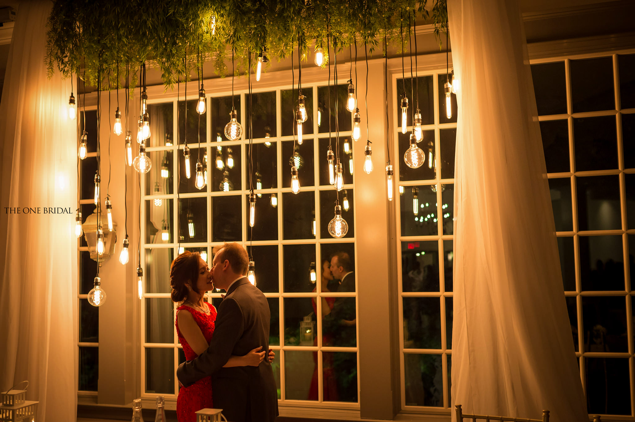 Wedding Retro Lights Backdrop