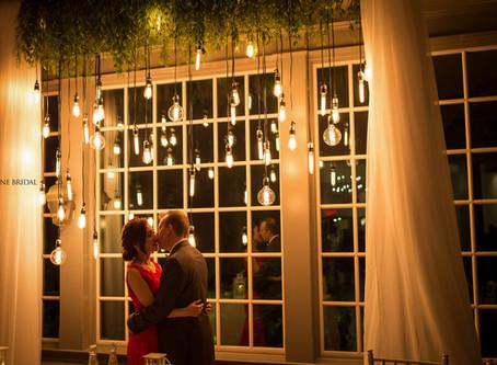 Wedding Retro Lights Backdrop