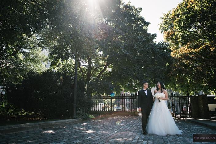 Groom and Bride at Osgood Hall Toronto Wedding Photo
