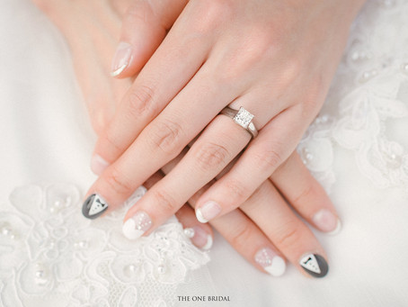 Bridal Nails Art with Wedding Gowns and Tuxedo