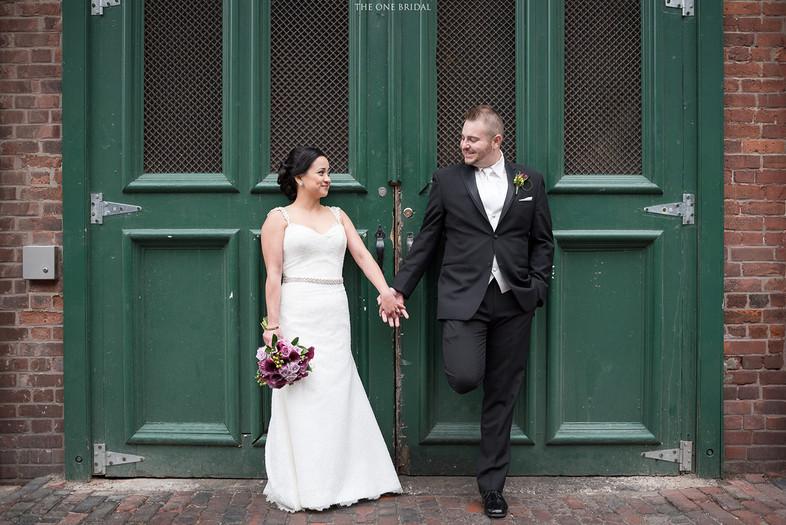 Newlyweds Wedding Photo at Distillery District