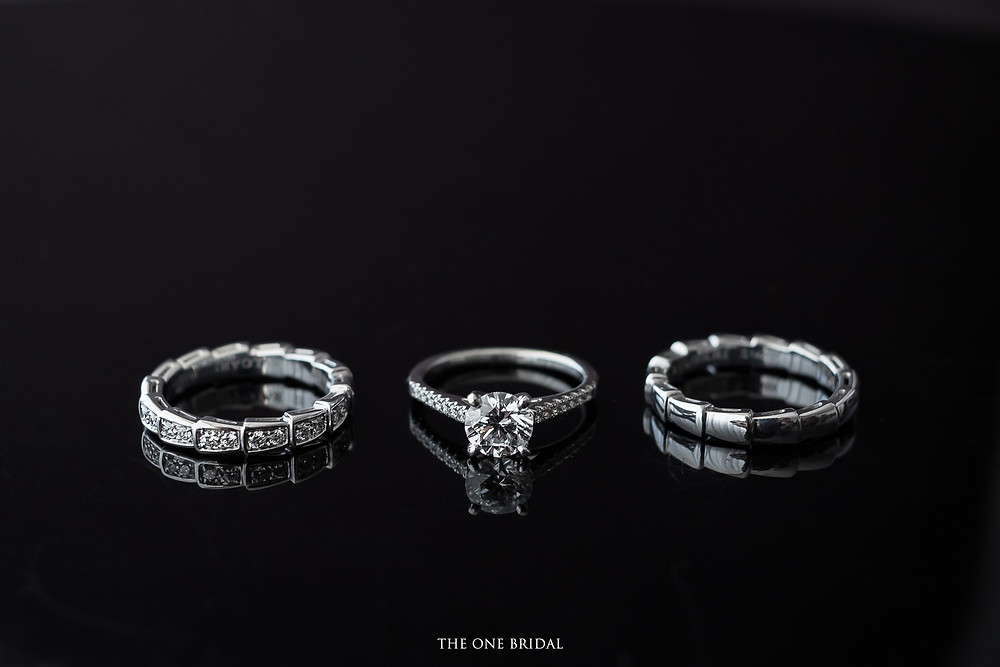 Engagement Diamond Ring and Wedding Bands | THE ONE BRIDAL